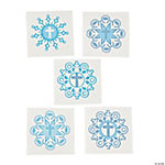 Cross Snowflake Glitter Tattoos