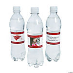 Custom Photo Class Of Water Bottle Labels - Burgundy