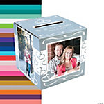 Custom Photo Two Hearts Wedding Card Box