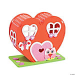 3D Foam Valentine Heart House Craft Kit