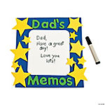Dad's Memos Magnet Dry Erase Board Craft Kit