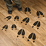 Deer Tracks Floor Decals