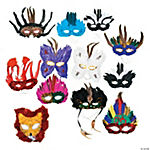 Deluxe Feather Masquerade Mask Assortment