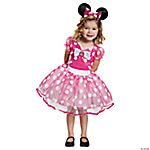 Deluxe Pink Minnie Mouse Tutu Costume for Toddler Girls