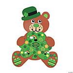 DIY Giant St. Patrick's Day Teddy Bear-Shaped Sticker Scenes