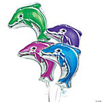 Dolphin-Shaped Mylar Balloon Assortment