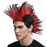 Double Mohawk Wig Black Red