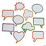 Dry Erase Conversation Bubble Magnets