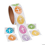 Easter Egg Cross Stickers