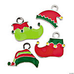 Elf Hat & Shoe Enamel Charms