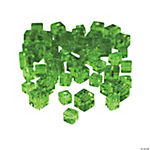 Emerald Cube Cut Crystal Beads - 4mm-6mm