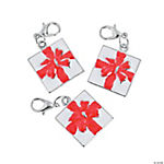 Enamel Christmas Gift Charms with Lobster Clasp
