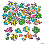 Fabulous Foam Self-Adhesive Tropical Fish Shapes