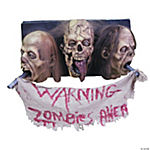 3-Faced Zombie Wall Plaque