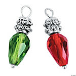 Faceted Christmas Bulb Charms - 24mm