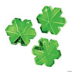 Faceted Green Snowflake Charms - 20mm