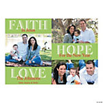 Faith Hope Love Custom Photo Christmas Cards