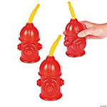 Fire Hydrant Cups with Straws