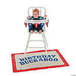 First Birthday Cowboy High Chair Set