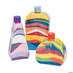 Flat-Sided Sand Art Bottles