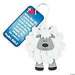 Flower Sheep with Bible Verse Ornament Craft Kit