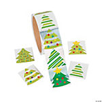 Foil Christmas Tree Stickers