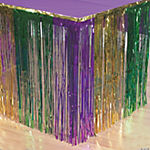 Fringe Mardi Gras Table Skirt