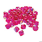 Fuchsia Aurora Borealis Cut Crystal Bicone Beads - 8mm