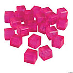 Fuchsia Cube Cut Crystal Beads - 8mm