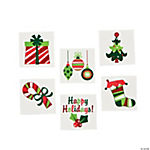 Fun Christmas Glitter Tattoos