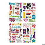 Fun Sayings Epoxy Stickers