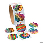 Funky Apple Roll of Stickers