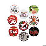 Funny Christmas Buttons