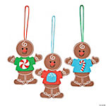 Gingerbread Men in Shirts Ornament Craft Kit