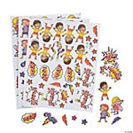 Girl Superhero Self-Adhesive Shapes