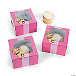Girl's Baby Shower Cupcake Boxes