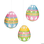 Glitter Egg-Shaped Paper Lanterns