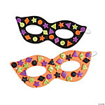 Glitter Halloween Mask Craft Kit