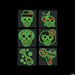 Glow-in-the-Dark Day of the Dead Tattoos