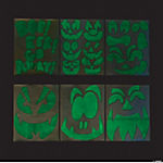 Glow-in-the-Dark Pumpkin Face Stickers