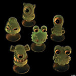 Glow-in-the-Dark Suction Cup Monster Characters