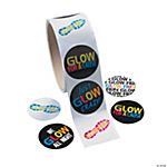 Glow Run Roll of Stickers