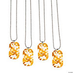 Gold Awareness Ribbon Camouflage Dog Tags