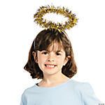 Gold Tinsel Halo Headbands