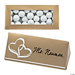 Gold Wedding Place Card Favor Boxes