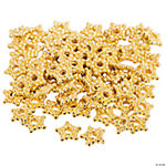 Goldtone Star-Shaped Spacer Beads - 8mm
