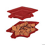 Graduation Cap Serving Dishes - Burgundy