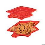 Graduation Cap Serving Dishes - Red