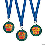 """Great Job!"" Medals with Ribbon"
