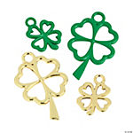 Green & Gold Shamrock Charms - 15mm - 28mm